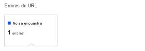 1 error de URL 404 WMT