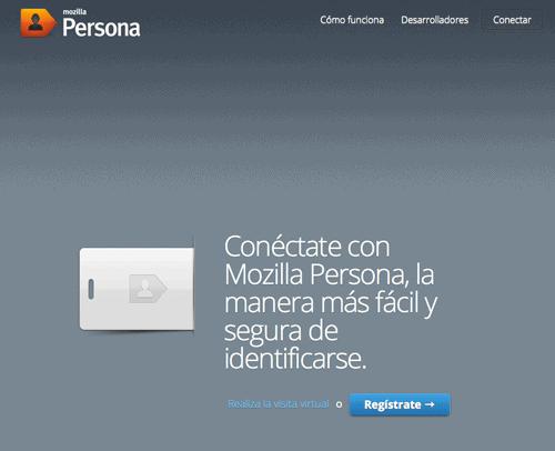Inicio de Mozilla Persona