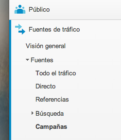 Acceso a la información de campañas en Google Analytics