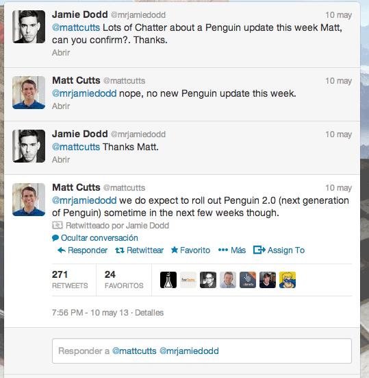 Anuncio de Penguin 2.0